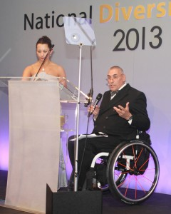 Paralympic hero Peter Norfolk presented the Positive Role Model Award for Disability to Rachel Gadsden
