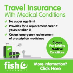 Fish Insurance - Travel Insurance with medical conditions