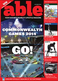 The current edition of Able Magazine's cover