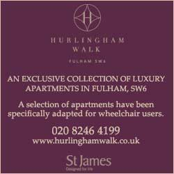 Luxury apartments in Fulham