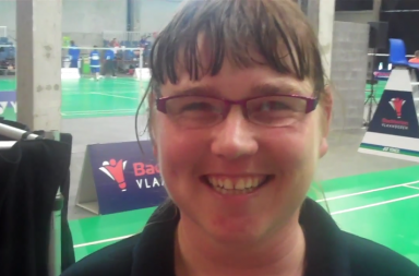 Kerry Duncan of Special Olympics GB Badminton