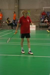 Samantha Monk of Special Olympics GB's badminton team.