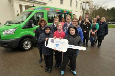Pupils-at-Gosden-House-School-recieve-a-key-to-their-new-Lord's-Taverners-minibus_IMAGE-CREDIT_TMS_Surrey-Advertiser