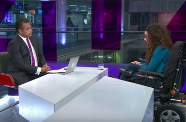 Channel 4 News Disability Cuts Debate