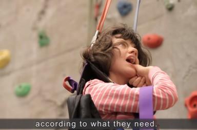 Deafblind Active - instructional video rock climbing 2