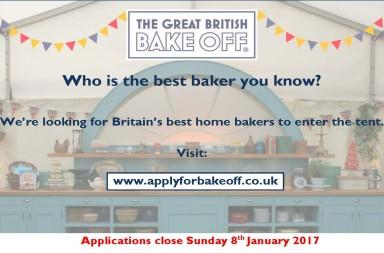 british bake off application