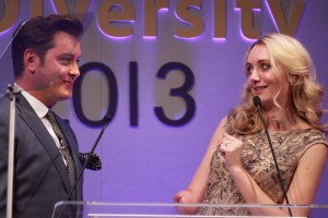 Hilarity ensues with hosts Brian Dowling and Cerrie Burnell